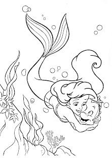 desenhos pequena Sereia colorir