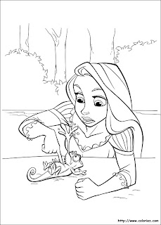 desenhos da Rapunzel para colorir