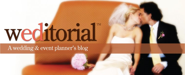 weditorial - a wedding and event planner's blog