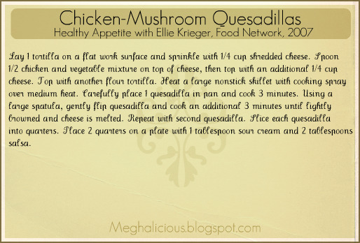 Meghalicious chicken mushroom quesadillas to print left click file print to save file to your computer right click on image then save image as forumfinder Choice Image