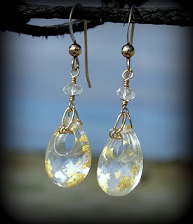 rock crystal dangle earrings