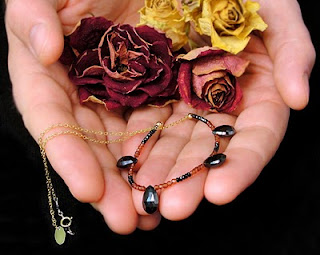 black and red garnet necklace