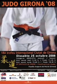 Cartell promocional del 18è Trofeu Internacional Ciutat de Girona de Judo