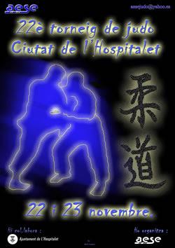 Cartell anunciador del XXII Torneig Ciutat de l'Hospitalet de Judo