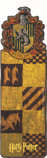 marcapáginas, harry potter bookmark hufflepuff banner