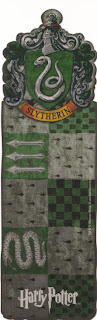 marcapáginas, harry potter bookmark slytherin banner