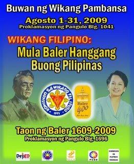 Buwan ng Wika 2009 - Wikang Filipino: Mula Baler Hanggang Buong Pilipinas
