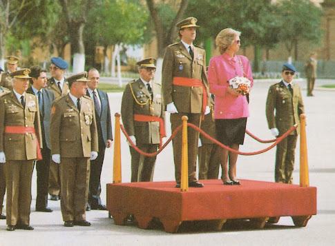 Los Reyes de España presidiendo las Bodas de Oro del RACA 14 (05-03-1990)