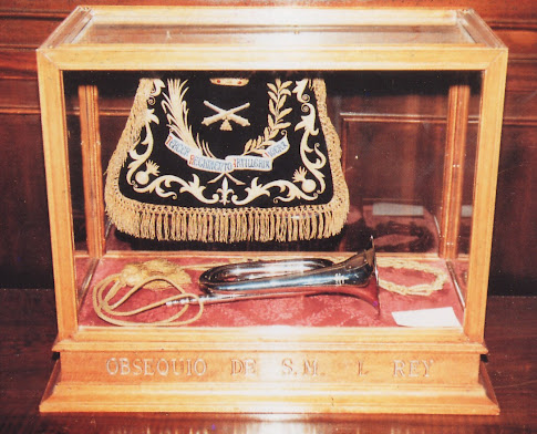 Clarín del Brigada Rafael, donada por su familia al Regimiento