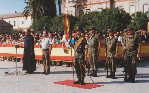 Jura de Bandera, en el Patio de Armas del Acuartelamiento