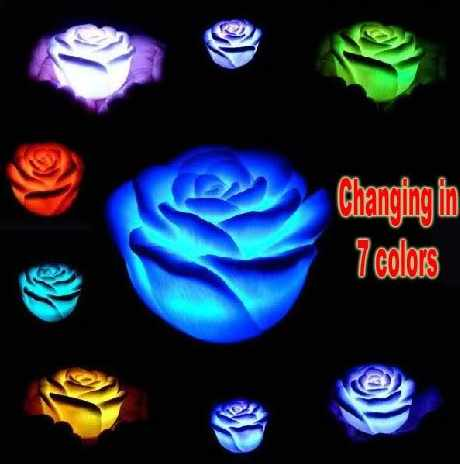 Lampu on Kirara Online Shop  Led Rose   Lampu Led Romantis Berbentuk Mawar Yang