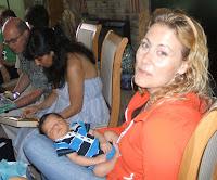 Auntie Karina holding Nicholas
