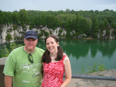 Miranda and Ralph at Elora Quarry