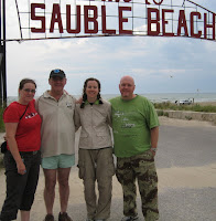 Sauble Beach after a good swim and french fries