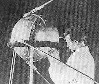 Sputnik 1, primer satelite artificial de la tierra enviado al espacio por los Sovieticos el 4 de octubre de 1957