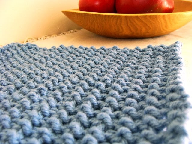Felted Treasures: Sunday Morning Knit Wit ~ Rice Stitch