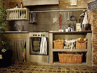 Muebles De Cocina De Obra. Muebles De Cocina En Madera Rusticos Foto ...