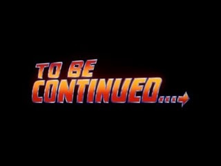 to be continued back to the future -