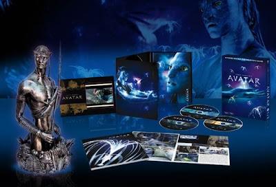 """avatar dvd blu ray extras busto 3d - Edición de coleccionista """"Avatar"""""""