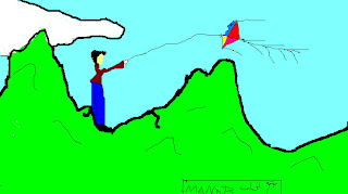 منار الجبالى/ الطياره الورقيه