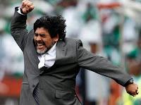 Maradona celebrando gol de Argentina!!