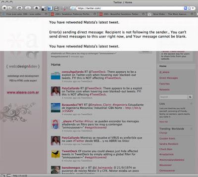 Virus en Twitter | Mi pantalla
