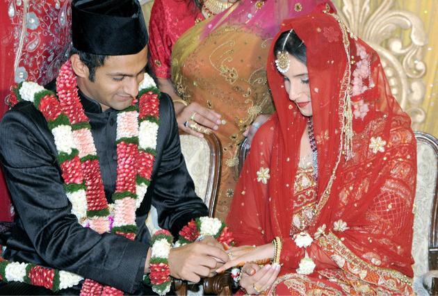Shoaib Malik And Sania Mirza Wedding Photos Shoaib Malik