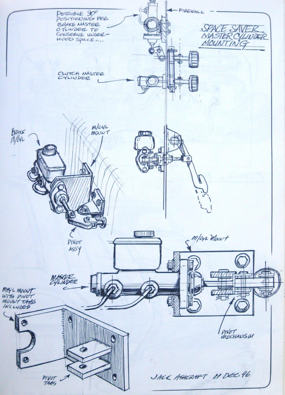 Ashcrafts Sketchbook Saab Brakes Diagram Brake Master Cylinder Mounting Details