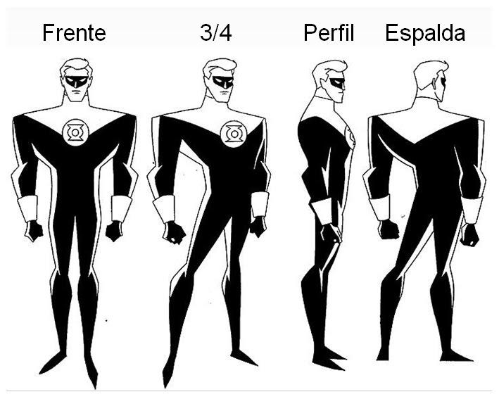 Hojas Modelo o Model Sheets - Daniel Collazos Animación Digital