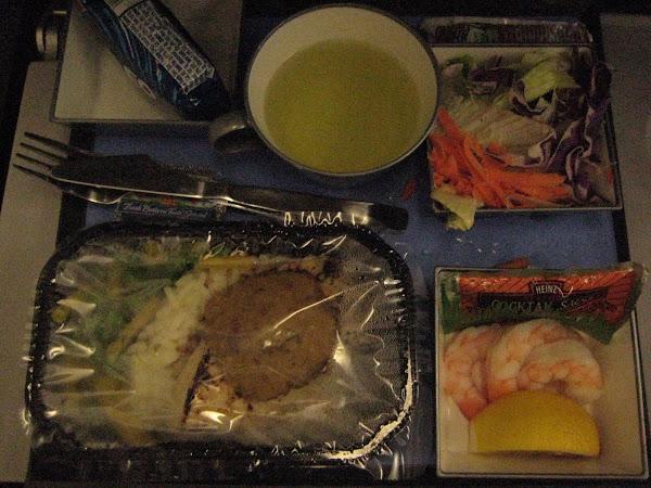 Airplane food. YUMMY!
