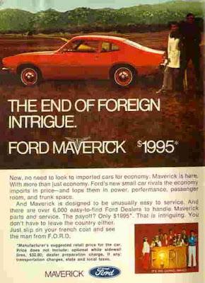 1969 - Folder de lançamento do Maverick nos Estados Unidos