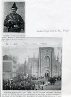 Boudewijn Craeye in zijn oorpsronkelijk patriotisch plunje en begrafenisplechtigheid in de Magdalenakerk van Brugge.