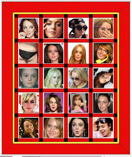 Lindsay Lohan Quilt