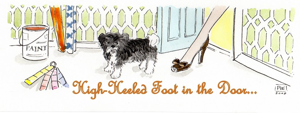 High-Heeled Foot in the Door
