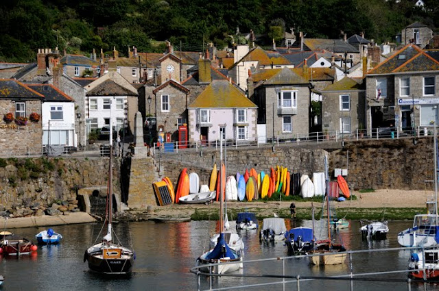 Mousehole harbour in Cornwall