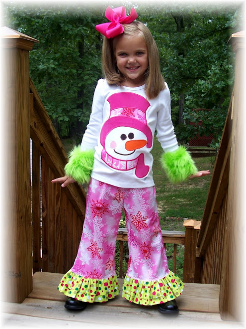 Snowman Applique Tee Ruffle Pant Set 2008 $80