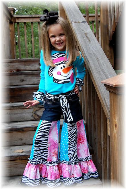 2009 Pink, Blue, Zebra Snowman Gaucho Set $130