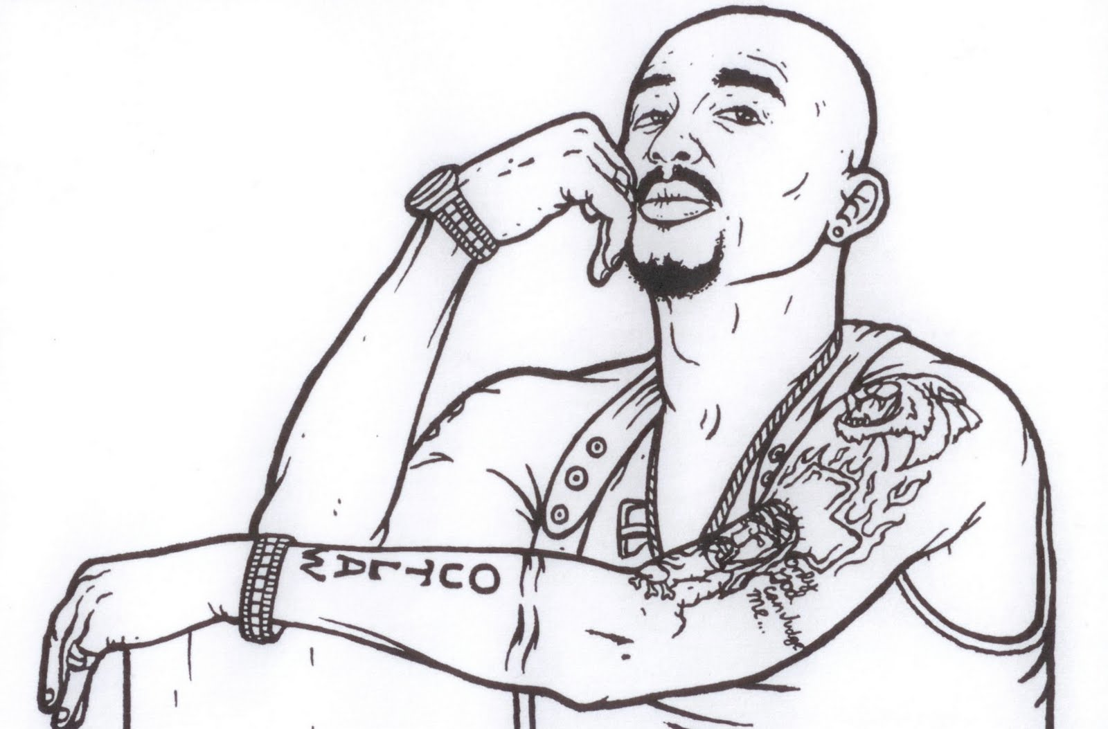 Free Coloring Pages Of Gangsta Gangster Coloring Pages