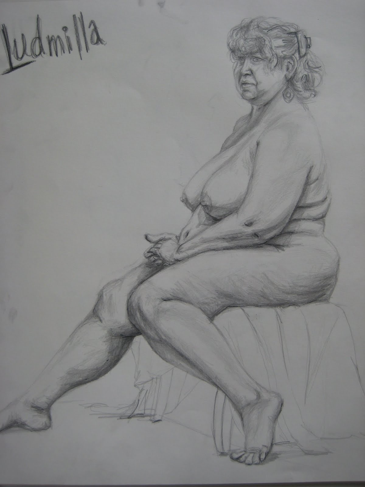 People expect every nude female figure drawing to be lustrous and ...