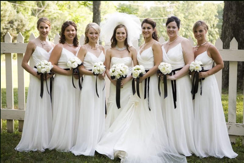 white wedding dress with black. white wedding dress with