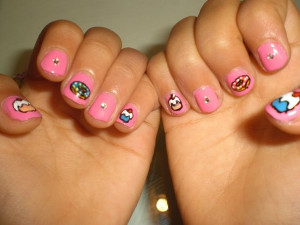 cupcake nail designs ideas-22