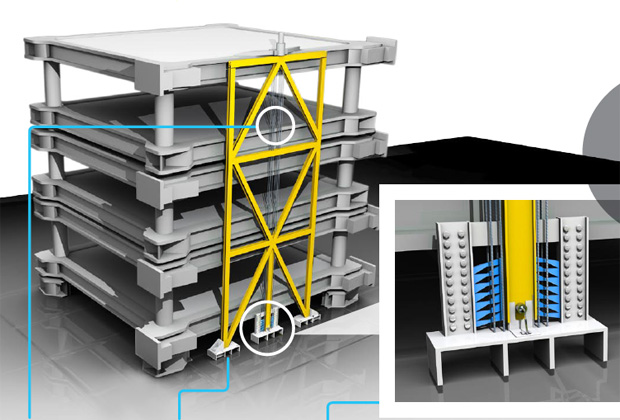 The earthquake proof building that is built to collapse for Building builder online