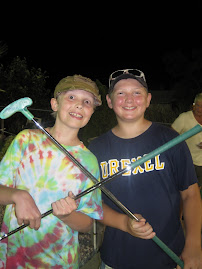 Jed and D mini-golf kings