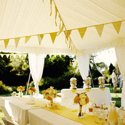This is a DIY project found at Martha Stewart Weddings Fun flags