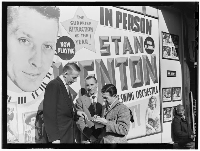 Portrait of Stan Kenton and Bob Gioga, 1947 or 1948. William P. Gottlieb Collection (Library of Congress).