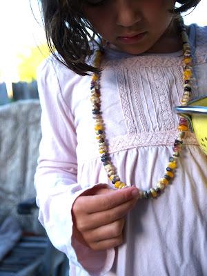 crafty jewelry: baby making corn necklace