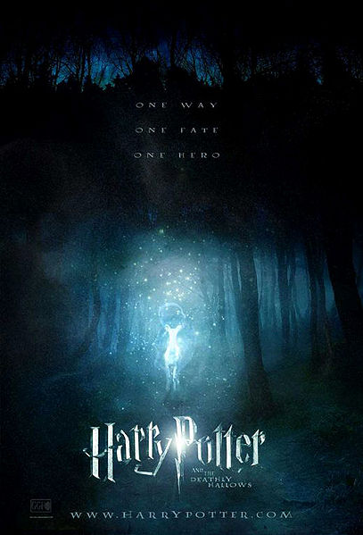 harry potter and the deathly hallows movie cover. harry potter 7 movie cover.
