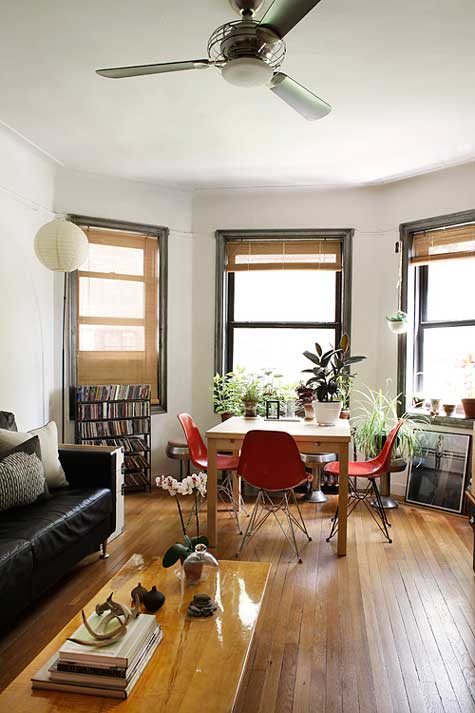 All photos come from the following the sites: Design Sponge, Apartment  Therapy, Home Sweet Home, and FFFFound