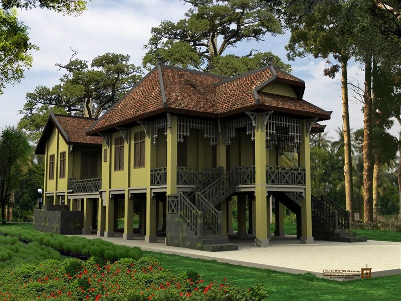 Modern Khmer Architecture French Colonial House