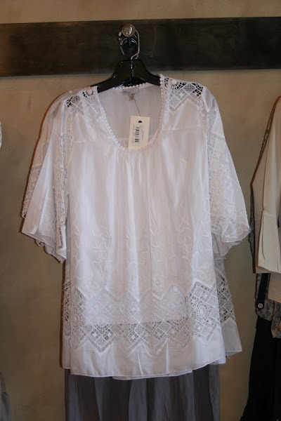 Beautiful White Cotton Lace Blouse